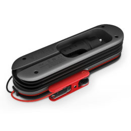 SmartCharge 8A battery charger, backside, laying