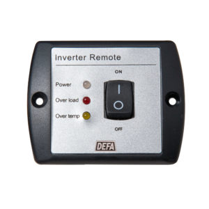 Control panel with On/Off switch and LED indicators for DEFA Inverters (1000-3000W)