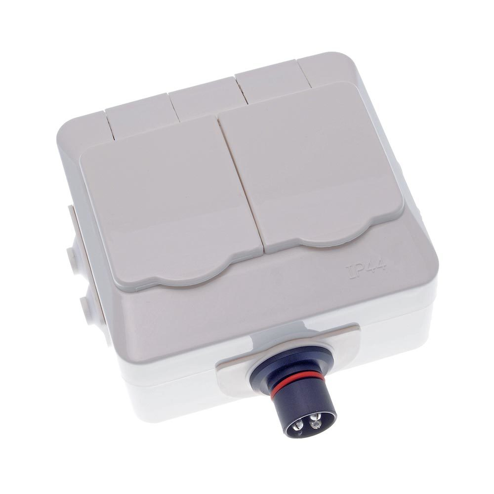 PlugIn double electrical wall outlet