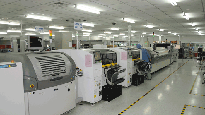 Picture from production line in the cutting-edge DEFA factory in Wuxi, China