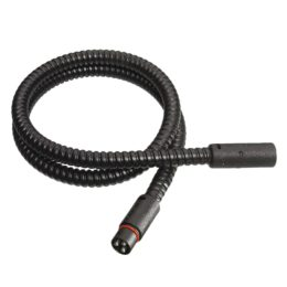 Black PlugIn extension cable, coiled