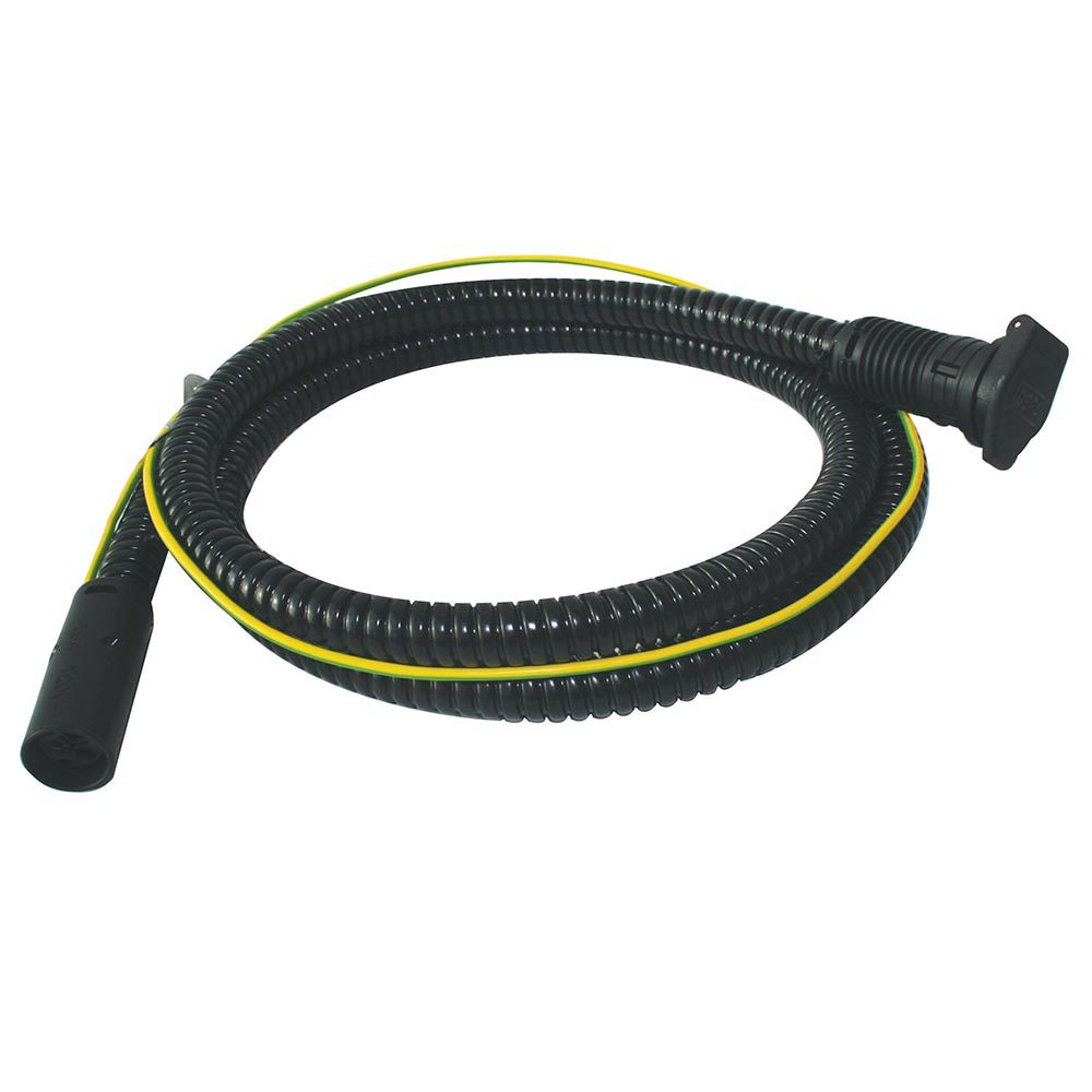MiniPlug Inlet cable, coiled, 120V, white background